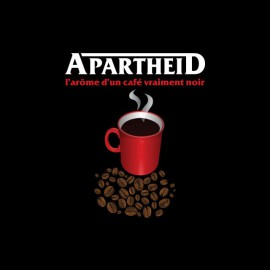 Tee shirt Les Nuls Nescafé parodie Apartheid noir