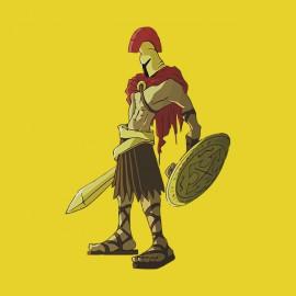 tee shirt spartacus soilder jaune
