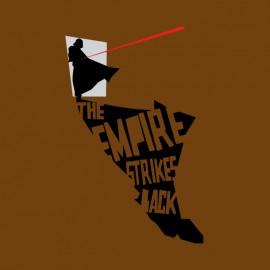 tee shirt empire strike back marron