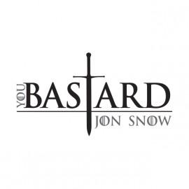 tee shirt jon snow bastard blanc