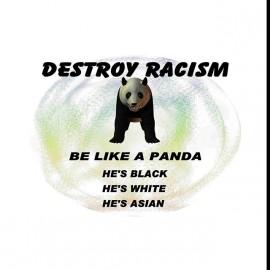 tee shirt panda contre le racisme blanc