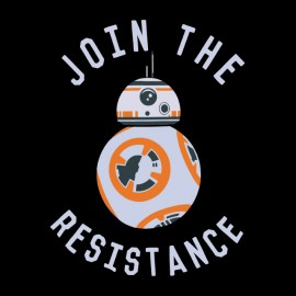 tee shirt join the resistance noir
