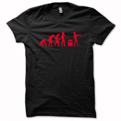 T-shirt Evolution zombie R.I.P red/black
