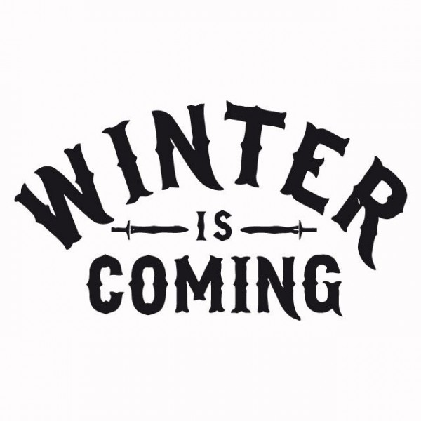 Shirt Winter Is Coming Game Of Thrones Basic Black White