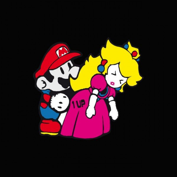 Camiseta Mario Bros Roder Princess Peach Parodia Nintendo