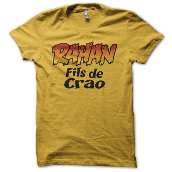 t shirt rahan fils de cra yellow. Black Bedroom Furniture Sets. Home Design Ideas