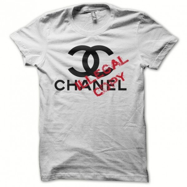 T Shirt Chanel Illegal Copy White