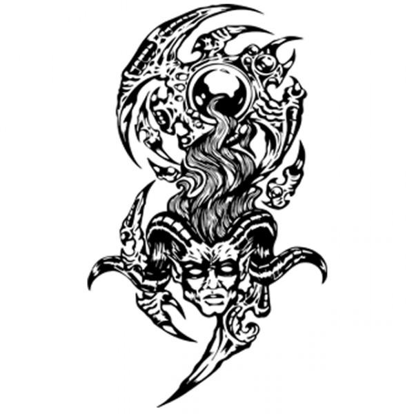 tee shirt tatouage de d u00e9mons en blanc
