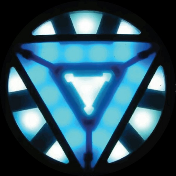 T-shirt Iron Man 3 new symbol Arc Reactor black Iron Man Symbol