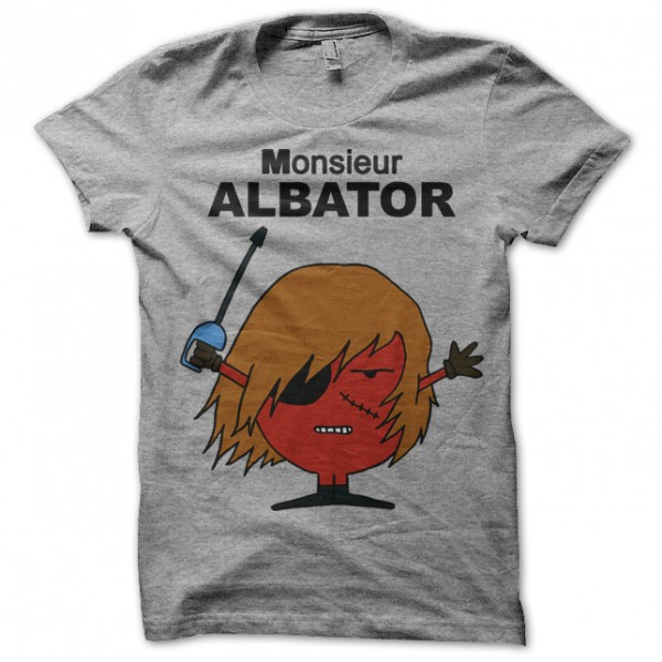 tee shirt monsieur madame albator gris. Black Bedroom Furniture Sets. Home Design Ideas