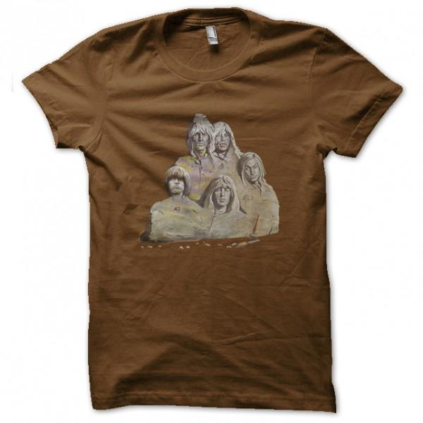 tee shirt rolling stones solid rock marron. Black Bedroom Furniture Sets. Home Design Ideas