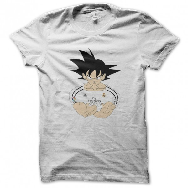 tee shirt goku real madrid football blanc. Black Bedroom Furniture Sets. Home Design Ideas