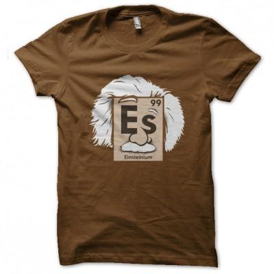 Brown shirt einsteinium periodic table for Custom periodic table t shirts