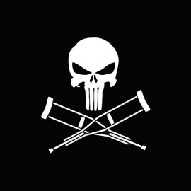 Punisher vs shirt Jackass white / black