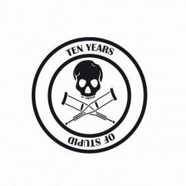 Jackass t-shirt 10 years of stupid black / white