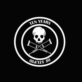 Jackass t-shirt 10 years of stupid white / black