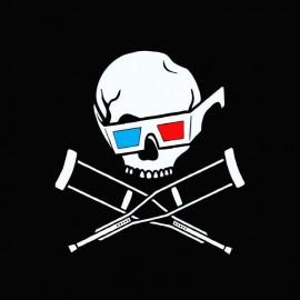 Tee shirt Jackass 3D blanc/noir