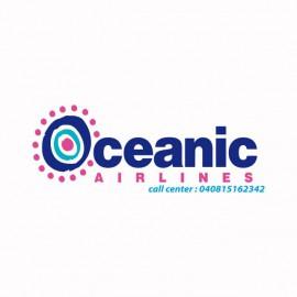 Tee shirt Oceanic airlines Lost  Les Disparus blanc