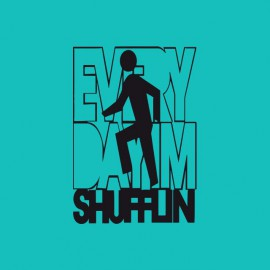 T-shirt LMFAO Party Rock Anthem  everyday i'm shufflin blue/black