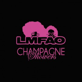 T-shirt LMFAO Champagne shower black