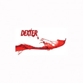 Camiseta Dexter blood logo blanco