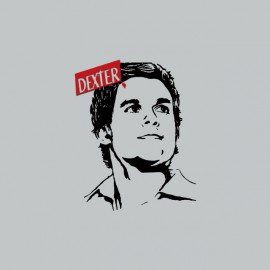 T-shirt Dexter portrait gray