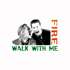 Tee shirt Twin Peaks Fire walk with me Bob & Cooper white