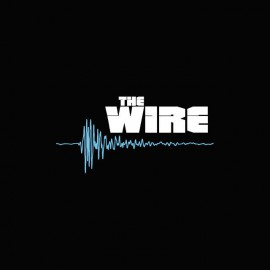 Tee shirt The Wire logo blanc/bleu sur noir