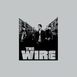 T-shirt The Wire street gray