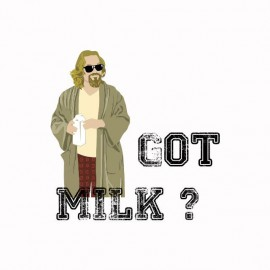 Tee shirt The Big Lebowski got milk blanc