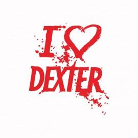 Camiseta love DEXTER rojo/blanco