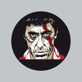 T-shirt Scarface tony montana gray