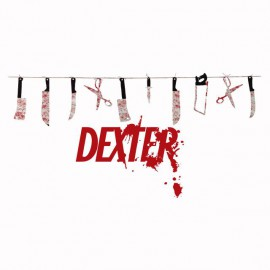 Tee shirt Dexter ustensiles blanc