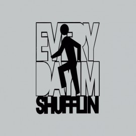 T-shirt LMFAO Party Rock Anthem  everyday i'm shufflin black/gray