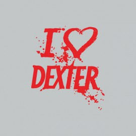 Camiseta love DEXTER rojo/gris
