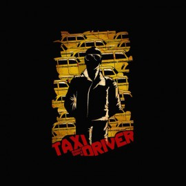 T-shirt Taxi Driver yellow cabs black