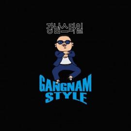 camiseta Gangnam Style  강남 스타일 negro