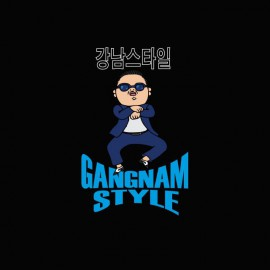 Tee shirt  Gangnam Style 강남 스타일 noir