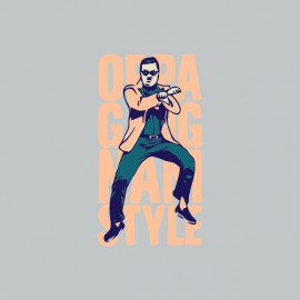 T-shirt  Gangnam Style OPPA 강남 스타일 gray