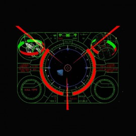 camiseta Starfighter screen oldies negro