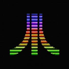camiseta Atari pixel color negro