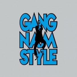 Tee shirt  Gangnam Style 강남 스타일 gris