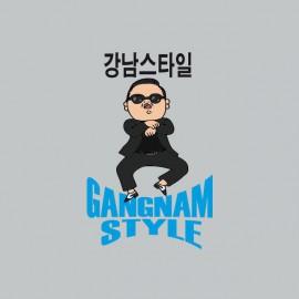 camiseta Gangnam Style  강남 스타일 gris