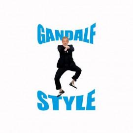 Camiseta Gandalf Style parodia gangnam blanco
