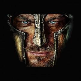 Tee shirt le sang des gladiateurs Spartacus blanc/noir