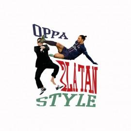 T-shirt OPPA Zlatan Style parody gangnam white