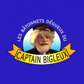 camiseta  Les Nuls Captain Bigleux azul