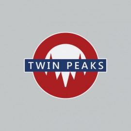 Tee shirt Twin Peaks Uground sign gray