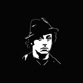 Tee shirt Rocky  Balboa hat artwork blanc/noir