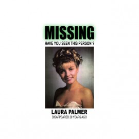 Tee shirt Twin Peaks missing Laura Palmer white